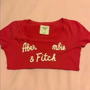 Low cut pink Abercrombie & Fitch t-shirt